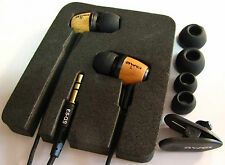 AWEI es-q9 Super Bass legno In-Ear Earphones Cuffie Auricolari Marrone
