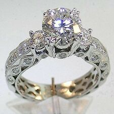Eternity Jewelry 7mm Diamonique CZ 14KT White Gold Filled Wedding Ring Size 8/Q