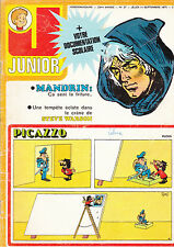 JUNIOR  N° 37  septembre 1975 . MICHEL VAILLANT STEVE WARSON  CLIFTON  MANDRIN