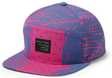 Oakley Men's 5 Panel Camper Structure Adjustable Snapback Cap Hat - Fuchsia