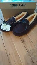 UGG EVER sheepskin Chocolate Moccasins Size 42  M9, L11