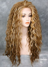 HEAT SAFE Lace Front wig Curly Wavy Two tone Blondes Tangerine mix NBH 2216