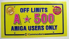 Comodore c64 - OF LIMIT AMIGA 500 - Aufkleber Original 80er Jahre Sammlerstück