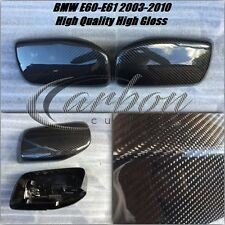 BMW 5 Series Carbon Fibre FULL Wing Mirror Covers E60 E61 2003-2010 Models PAIR