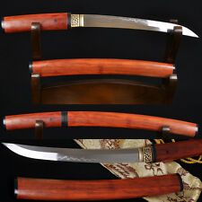 "20"" JAPANESE SAMURAI SHIRASAYA SWORD TANTO Clay Tempered SHINOGI-ZUKURI Blade"
