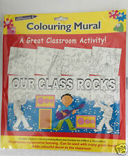 Colouring Mural Ideal for classrooms 12 sheets to make a large mural Kids Crafts