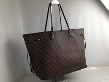 Auth Louis Vuitton Damier Neverfull GM Shoulder Tote Bag Brown 6K110190#