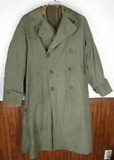 vtg WW2 Era US Army Officers' Field Over Coat O'Coat w/wool liner trench sz 37R