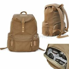 Waterproof Canvas Backpack Rucksack Camera Bag For Canon EOS 60D 60Da 7D 6D