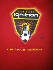 SIGNED DETROIT IGNITION T SHIRT Indoor Soccer AUTOGRAPHED Red