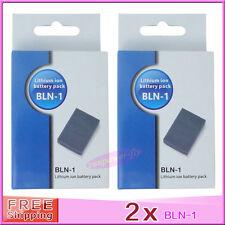 2 x BLN-1 BLN1 Battery For OLYMPUS BCN1 BCN-1 E-M5 E-P5 OM-D E-M1 EM5 OMD EP5