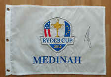 Luke DONALD Signed 2012 MEDINAH Ryder Cup Golf Flag Autograph AFTAL COA