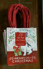 French Bulldog Christmas Holiday Gift Bags 13 Pieces Small NEW