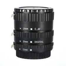 Black AF TTL Macro Extension Tube Ring Set For Canon EOS EF EFS Lens 13-21-31mm