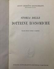 (Economia) STORIA DELLE DOTTRINE ECONOMICHE  Di J. Griziotti Kretschmann  Utet