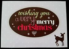 "G29) Lot de 11 Postcard ""Wishing You a Very merry Christmas""  - Neuf -"