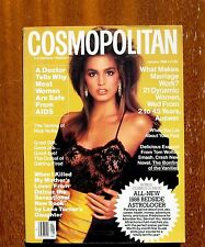 Vintage Cosmopolitan Magazine Jan 1988 Cindy Crawford Cover Vogue Bazaar 1980's