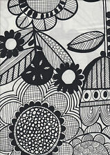 Wildflower Black & White - 100% cotton quilting fabric - 50 x 55 cms