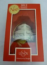 "Lenox #829432 ""Our First Christmas Together"" 2012 Wedding Cake Ornament NEW!!"