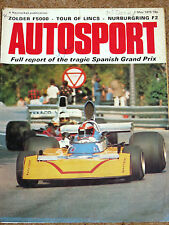 Autosport 1/5/75* SPANISH GP - TOUR of LINCS - ZOLDER F5000 - NURBURGRING F2