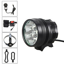 8500LM 7X CREE XM-L T6 LED Bright Head Front Bicycle light Lamp Headlamp+Battery