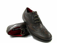 BOYS KIDS REAL LEATHER LACE UP SMART BROGUE SHOES SCHOOL CASUAL WEAR SIZE