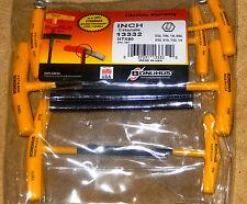 HTX80 Bondhus Graduated T Handle 8 Piece Hex Key Allen Set 13332
