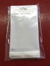 """100 Clear Hanging 3""""x 4"""" OPP Bags Jewelry Craft Merchandise Resealable Bottom"""