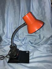 Vintage ORANGE Retro 70's Gooseneck Desk Lamp  ELECTRIX INC MADE IN USA