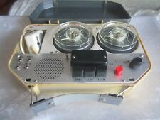Vintage Hamilton Deluxe Portable Reel to Reel Tape Recorder with Remote Control