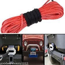High Strength Dyneema Synthetic Fiber Vehicles ATV SUV Winch Line Cable Rope Red