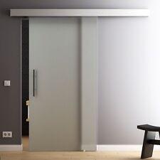 LEVIDOR Glasschiebetür 900 x 2050mm  Glastür Schiebetür satiniert GP1V9G