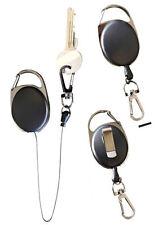Jojo Schlüsselhalter ausziehbar mit Gürtelclip Metall Schlüsselbefestigung 2202