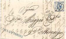 P8852   Torino, annullo cerchio piccolo su c. 15 , 1863