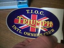 (1) TRIUMPH OWNERS CLUB DECAL