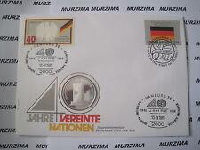 """BRD  NUMISBRIEF 999er Silber Medaille  """"40 Jahre Vereinte Nationen"""" Philswiss"""