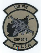 """138th  FIGHTER WING OEF 2013 """"TULSA"""" F-16 (THE LATEST) patch"""