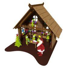 Santas Workshop Elf  Doll House Kit Christmas Craft Laser Cut Wood Gift Idea New