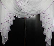Deko - Gardine, Store, Vorhang in der Farbe weiss
