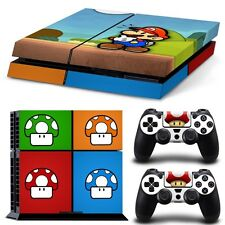 Super Mario Bros Sony PS4 Console & 2 Controllers Decal Vinyl Cover Skin Sticker