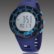 Mens Blue OHSEN Digital Quartz LED Light For Diving Rubber Band Wrist Watch