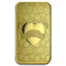 5~GRAM ~PURE 9999 GOLD ~ LOVE��ALWAYS ~ PAMP SUISSE ~SEALED BAR~ $9.99 ~ BID~WIN