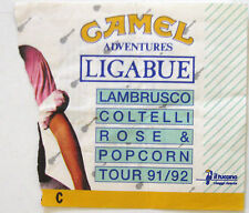 LIGABUE Tour 1991 1992  Lambrusco Coltelli Rose & Popcorn Biglietto Ticket