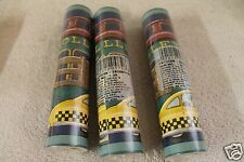 3 Rolls Trolley Taxi Race Car Vintage Truck Motorcycle Antique Wallpaper Border