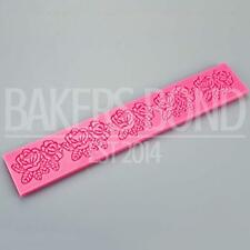 Romantic Roses Garland Embossing Strip Silicone Fondant Icing Cake Embossing
