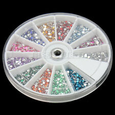 Carrousel de 3600 pcs Tips Strass Demi-tour Nail Art Ongles Décoration Manucure