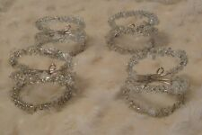 4  Ice Garland Napkin Rings Very Festive For Christmas *NEW*