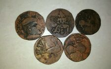 Ancient India krishnadevaraya dynastry big copper coin set -5 different coins