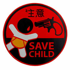 Save Child baby JDM Round stickers decals Baby in car funny infant safety sign