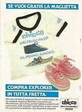 W5542 CHICCO - Scarpe Explorer - Pubblicità 1984 - Advertising